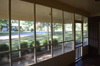 Vacant screened porch view
