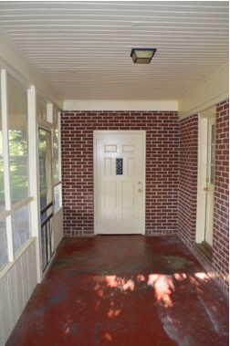 Vacant screened porch